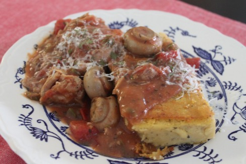 FS-- Chicken Cacciatore with Herbed Polenta 040