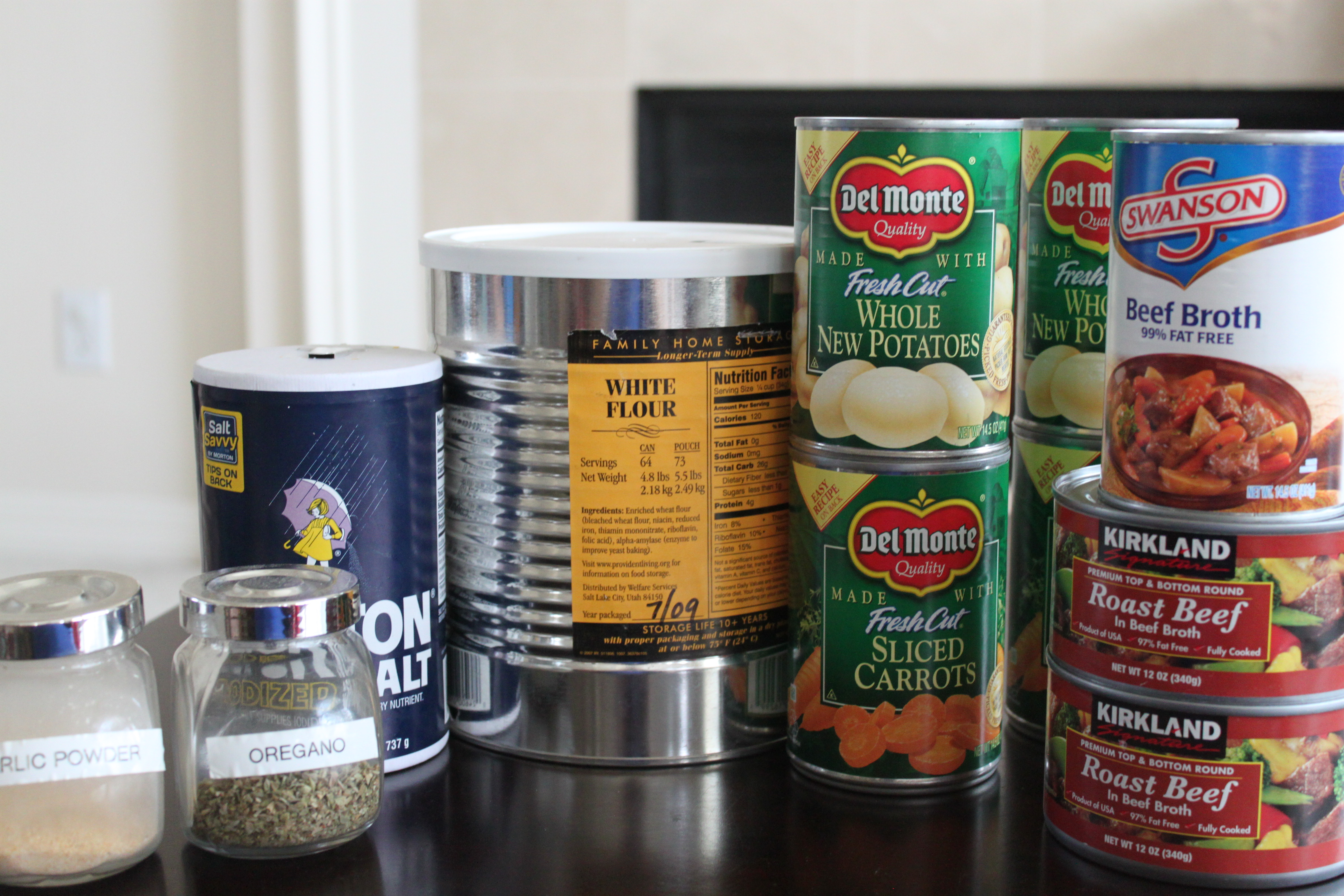 Cans Of Flour For Long Term Food Storage