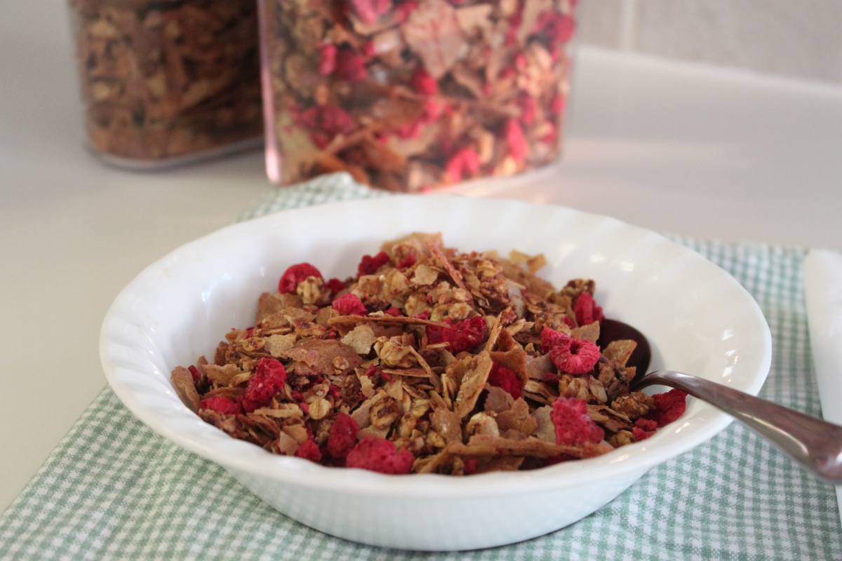homemade cold cereal  two flakey varieties