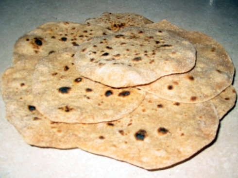 Stack of prepared Roti