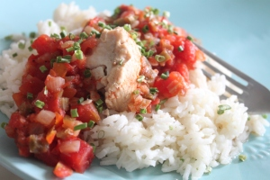 Creole Salmon with Rice (7)