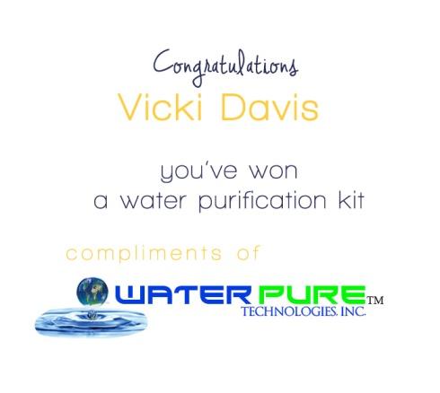 week 2 water kit winner