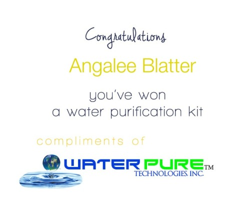 week 3 water kit winner