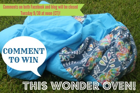 Comment to win Wonder Oven