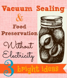 Vacuum Sealing post